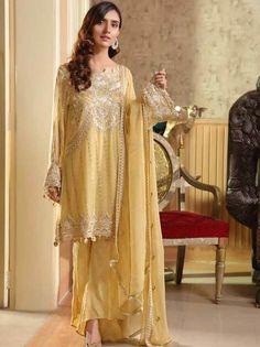 Stuff Embroidered Crinkle Chiffon Front 1 M Crinkle Chiffon Back 1 M Embroidered Patch For Front & Back 2 M Embroidered Crinkle Chiffon Sleeves M Sleevs Embroidered Patch 1 M Embroidered Crinkle Chiffon Dupatta M Embroidered Silk Trouser M Clothes For Sale, Clothes For Women, Pakistani Designer Suits, Pakistani Salwar Kameez, Pakistani Bridal Wear, Chiffon Material, 3 Piece Suits, Wedding Suits, Designer Wear