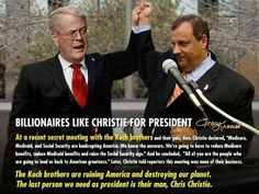 Bad Medicine for America :: Chris Christie and Koch brothers.Enemies of America.