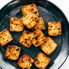 How to Cook Tofu! Our four go-to ways to prepare tofu: baked, sautéed, fried, and scrambled. Perfect for a variety of meals. YUM! #tofu #howto #vegan #vegetarian Firm Tofu Recipes, Whole Food Recipes, Vegan Recipes, Cooking Recipes, Vegan Meals, Ways To Cook Tofu, How To Fry Tofu, Vegetarian Entrees, Vegan Vegetarian