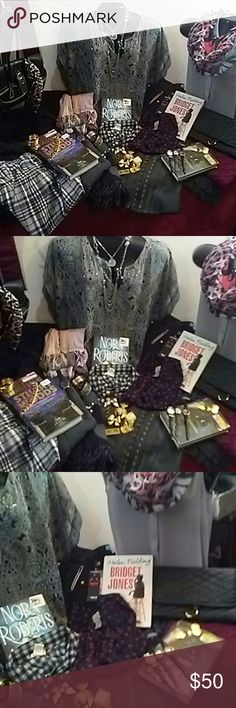 Women's 40pc Fashion Mix Lot=Clothing,Jewerly&More Women's 40pc Fashion Mix Lot=Clothing,Jewerly&More All Clothing is Name Brand and various sizes mostly Small & Medium  Nice Selection of Gold&Silver toned Jewerly and Watches  A Few Great Leather Bags Aswell & Scarves  & Few Hardback Books From some Popular best Selling Authors  All 40 items are 100% Satisfaction Guaranteed & Promise you won't find better deals than with me So do your well deserved Self A Favor & Treat Your Self To Deal That…