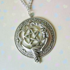 Dark Moon Goddess Enchanted Pentacle Necklace by EnchantedLockets, $24.00