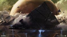 Post with 2623 views. Destiny Vex concept art by Dorje Seattle Bellbrook Bungie Destiny, Destiny 2 Shadowkeep, Destiny Video Game, Destiny Comic, Concept Art World, Game Concept Art, Concept Ships, Matte Painting, Wallpaper Destiny