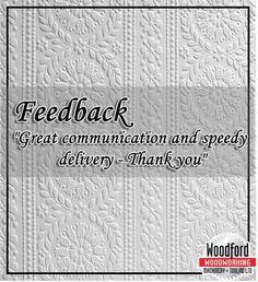 Feedback from customers on e-bay for #woodfordtooling. Read more...http://goo.gl/wOIXmT