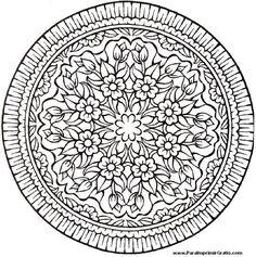 Mandalas de Flores - Para Imprimir Gratis - ParaImprimirGratis.
