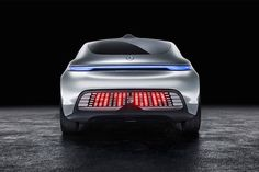 Rear and clear #safety signs from the #Mercedes-Benz F 015 #concept car