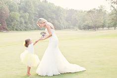 i love flower girl + bride pics