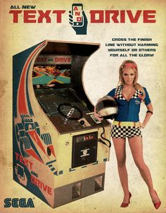 This is an ongoing series of imagined arcade cabinets presented as inspired print advertisements Vintage Video Games, Classic Video Games, Retro Video Games, Retro Arcade Games, Mini Arcade, Mode Vintage, Vintage Ads, Pinball, Russ Mayer