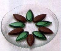 Bombones de chocolate con relleno de menta
