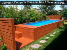 Convert A Dumpster Container Into A Swimming Pool - LivingGreenAndFrugally.com