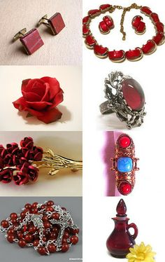 Shades of Red  by sunnybeadsbythesea on Etsy--Pinned with TreasuryPin.com