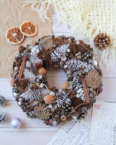 Christmas holiday pine cone wreath, Xmas natural rustic wreath for front door, Winter farmhouse door decor, Ready to ship Christmas wreath Christmas Pine Cones, Christmas Holidays, Xmas, Dried Flower Bouquet, Dried Flowers, Holiday Wreaths, Christmas Decorations, Holiday Decorating, Wreaths For Front Door