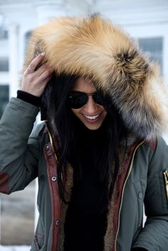 Not Your Standard - Nicole Benisti Khaki Parka Coat + Ray-Ban Aviator Sunglasses