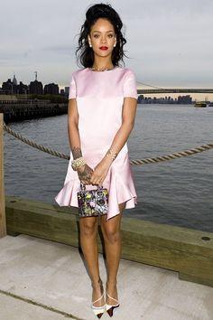 Best dressed - Rihanna in a Dior pink dress