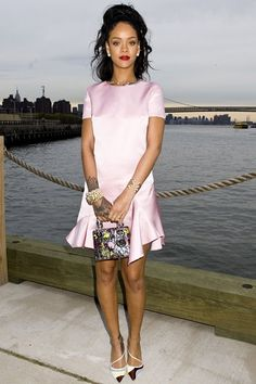 Best dressed - Rihanna in a Dior pink dress