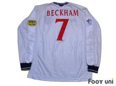 """""""England 2000 Home #7 Beckham""""  Classic , old clothes , it is the net shop of vintage football shirts(Soccer Jerseys). Assortment of difficult rare item available is also abundant."""