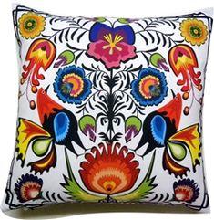 Wycinanki Folk Pillow