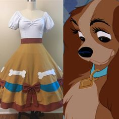 Cute little Lady inspired skirt I made for a customer recently! 🧡🐶🍝 #wishesandwardrobes #disneystyle #ladyandthetramp