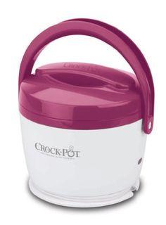 Crock-Pot SCCPLC200-PK 20-Ounce Lunch Crock Food Warmer, Pink Crock-Pot. ESTE CALIENTA LA COMIDA LENTAMENTE POR ESO HAY QUE CONECTARLO AL TOMACORRIENTE AL MENOS TRES HORAS ANTES DE COMER.