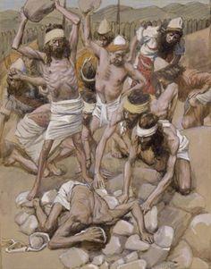 The Sabbath Breaker Stoned - James Tissot, c.1902, 295/451.