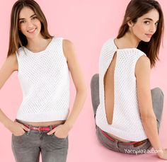 Knit a trendy summer top with Phil Coton 4 in daisy stitch with this free knitting pattern. Bet it will be your favourite summer item?Knitting Patterns Top Knitting Trendy Summer Top – Your Fashion Must-Have for the Summer of 2017 just knit by yourself Knitting Patterns Free, Free Knitting, Crochet Patterns, How To Start Knitting, Top Pattern, Free Pattern, Summer Tops, Crochet Clothes, Pulls