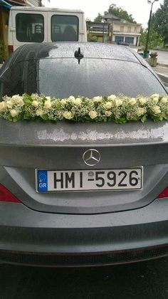 Wedding Car Flower Deco by Philanthia Flower Boutique, Skidra Greece