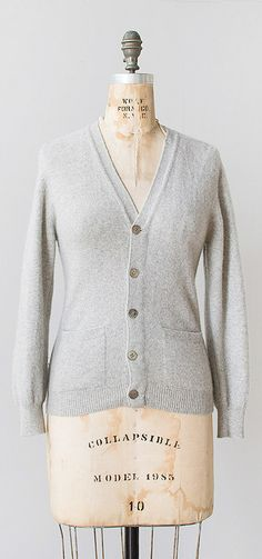 le sport cardigan | vintage grey cashmere cardigan