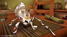 Eggcup robot | Freelancers 3D