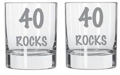 Image result for TURNING 40 ETCHED GLASS