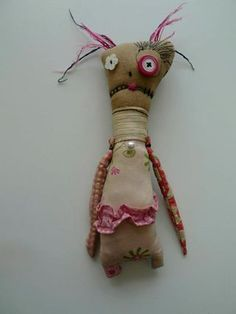 Little Creeper Monster Rag Doll by Andrew Drydahl (Twisted Root Studio)