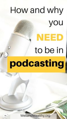 Podcasting is hot right now, good for traffic and monetization. Find out how to start a podcast Make Money Blogging, How To Make Money, Earn Money, Beste Podcasts, Podcast Topics, Podcast Ideas, Podcast Setup, Starting A Podcast, And So It Begins