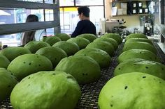 Green tea donuts at Café Dulce