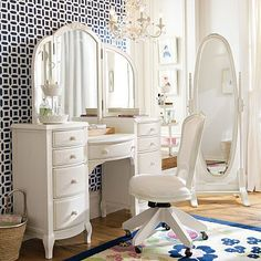i want this for my birthday  Lilac Vanity #potterybarnteen