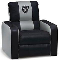Amazon.com : DreamSeat Oakland Raiders NFL Leather Recliner : Sports Fan Recliners : Sports & Outdoors