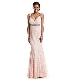 My Michelle® Lace Mermaid Gown