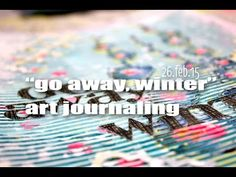 """""""go away, winter!"""" art journaling - YouTube  Good idea on how to incorporate corrugated cardstock in mixed media."""