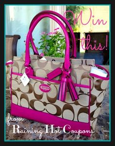 Its a Giveaway: *HOT* Coach Purse ($348 Value!) 1 Raining Hot Coupons Reader will Win!
