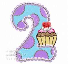 Free Embroidery Design: Number 2