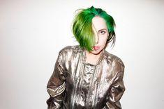 Lady Gaga Rocks Green Hair in Terry Richardson Photos