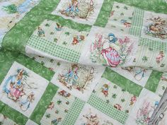 Hey, I found this really awesome Etsy listing at https://www.etsy.com/listing/198701465/baby-quilt-peter-rabbit-jemima