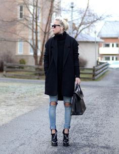 what-do-i-wear:  Shoes - Choies, Bag - Pieces, Jacket - Cubus, Sweater - Nelly (image: victoriatornegren)