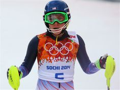 DAY 15:  Mikaela Shiffrin of the USA after competing during the Alpine Skiing Women's Slalom
