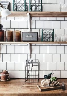 77 Gorgeous Examples of Scandinavian Interior Design Scandinavian-kitchen-with-white-tiles-and-wood-worktops