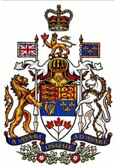 Coat of arms of Canada - Arms of Canada - Wikipedia, the free encyclopedia: JAPAN Evil - 666 DRAGON, Satanic Hierarchy Wicca/Church tm. Canadian Coat Of Arms, Canadian Army, Canadian History, Ottawa, Canada Day Crafts, Ontario, Canadian Tattoo, Canadian Things, Toronto