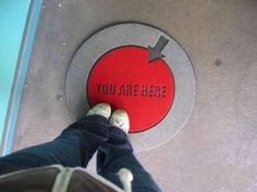 Humorous doormat to notify anyone visiting your home where they are! Who needs a gps?