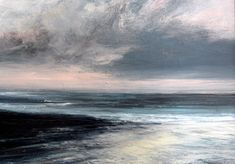 Abstract Landscape, Abstract Art, A Level Art, Dark Skies, Art For Art Sake, Seascape Paintings, Scenery, Artwork, Glass Beach