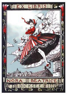 ≡ Bookplate Estate ≡ vintage ex libris labels︱artful book plates - Nora Beatrice Dicksee