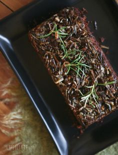 Wild Rice Loaf – this would be a nice base for a savoury pie, but with greens and dried mushrooms