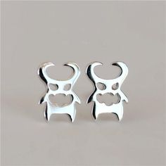 925 Sterling Silver Wacky Small Devil Stud Earrings For Women Cute Girl Hypoallergenic Sterling-silver-jewelry