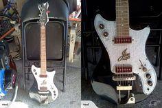 Jansen Victor (Black Swan?) electric guitar from New Zealand circa 1960-61