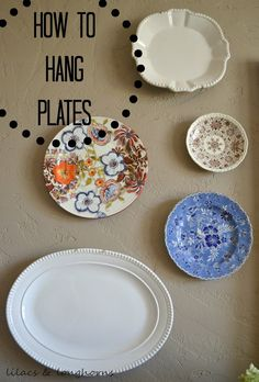 So many of you liked my plate wall when I showed you my dining room re & The plates are hung using adhesive discs. The 4\